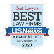 Best Law Firms 2020 Badge DUI / DWI Defense Tier 1 - Jimmy McGee Wilmington, NC DUI / DWI Lawyer