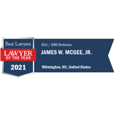 Best Lawyers 2021 Lawyer of the Year DUI / DWI Defense Badge - Jimmy McGee Wilmington, NC DUI Lawyer