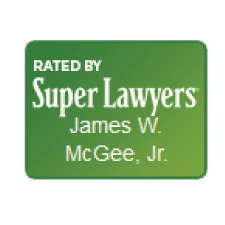 Rated by Super Lawyers Badge - Jimmy McGee Wilmington Criminal Defense Lawyer